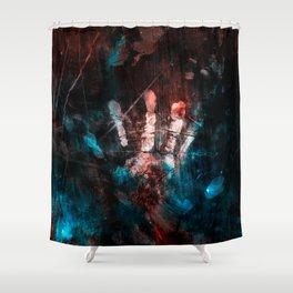 Cosmic Grunge Imprints Shower Curtain