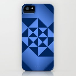 Abstract Triangles - Sapphire iPhone Case