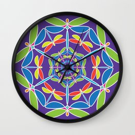 Libelula Kaleidoscope Wall Clock