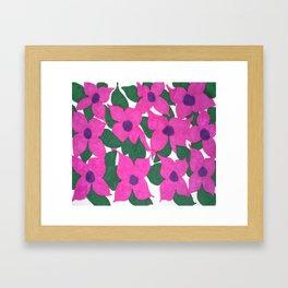 Spring Classic Pink Flowers Framed Art Print