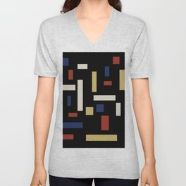 Abstract Theo van Doesburg Composition VII The Three Graces Unisex V-Neck