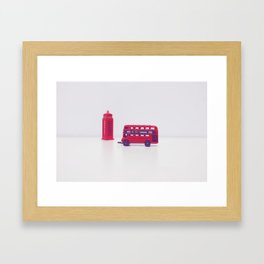 London Bus Framed Art Print