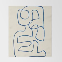Abstract line art 16 Throw Blanket