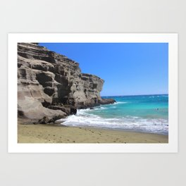 Olivine Sand and Turquoise Waters Art Print
