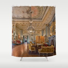 Newport Mansions, Rhode Island - The Breakers Music Room by Jeanpaul Ferro Shower Curtain