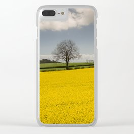 Rapeseed Canola field Clear iPhone Case