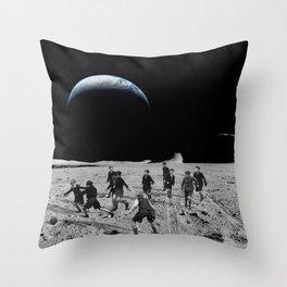 Moon Rocks For Goal Posts Throw Pillow