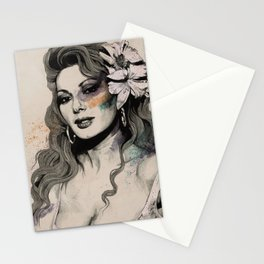 Edwige (street art sexy portrait of Edwige Fenech) Stationery Cards