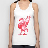 liverpool Tank Tops featuring Liverpool Liver Bird watercolour  by sarah illustration
