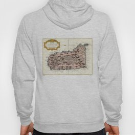 Vintage Map of Saint Lucia (1758) Hoody