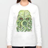 cthulhu Long Sleeve T-shirts featuring Cthulhu by Olechka