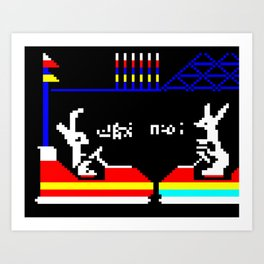 Do You Go Where I Go? page 14 (teletext) Art Print