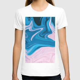 Wavy Pink & Blue (Color) T-shirt
