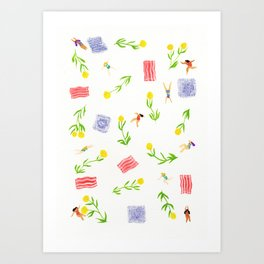 Orange Bloom Art Print