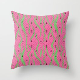 Ripped Anchor Pattern Throw Pillow