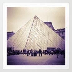The Purple Pyramid Art Print