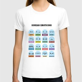 Korean Emoticons and Abbreviations T-shirt