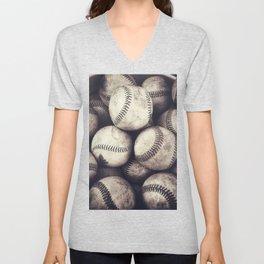 Bucket of Baseballs Unisex V-Neck