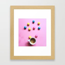 Bubble Gum Coffee Framed Art Print