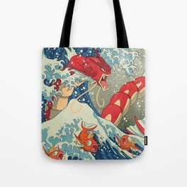 The Great Red Wave Tote Bag