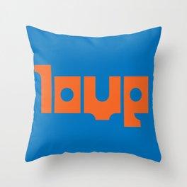 square peg, round hole Throw Pillow