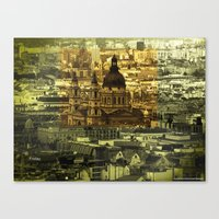friday Canvas Prints featuring Friday by monic