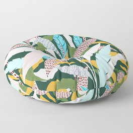 Fragmented Jungles Floor Pillow