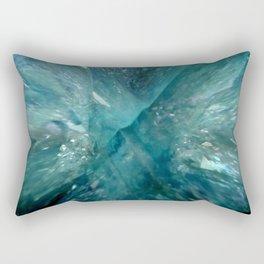 Aqua Aura Quartz Rectangular Pillow