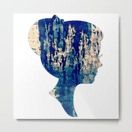 female profile. Metal Print