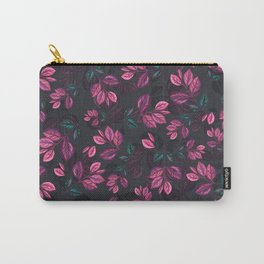 Purple Leaves Pattern Carry-All Pouch