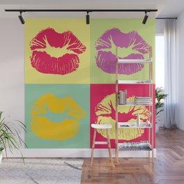 Pop Art Kisses Wall Mural