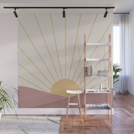 Morning Light - Pink Wall Mural