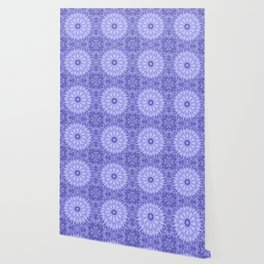 Periwinkle Crystal Mandala Pattern Wallpaper