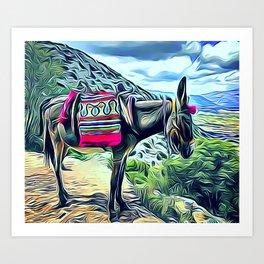 Mexican Burro Art Print