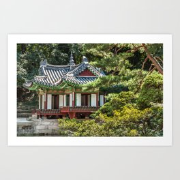 Buyongi Pond, Secret Garden, Changdeokgung Palace, Seoul Art Print