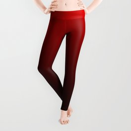 Red and Black Gradient Leggings