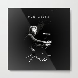 Tom Waits - Piano - Music Metal Print