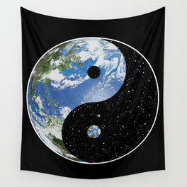 Earth / Space Yin Yang Wall Tapestry