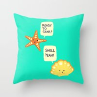 motivational Throw Pillows featuring Motivational Beach! by AnishaCreations