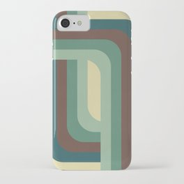 Abstract Retro Stripes iPhone Case