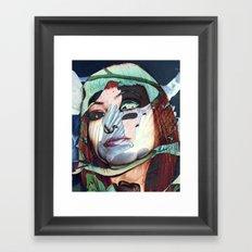 ELISA_GLITCH_IN THE SKY MIT MELANCHOLIE_ Framed Art Print
