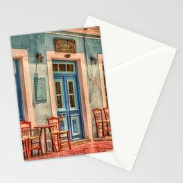 Pastel Cafe Peloponnese Greece Stationery Cards