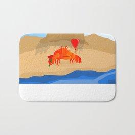 Crabby Suitor Bath Mat