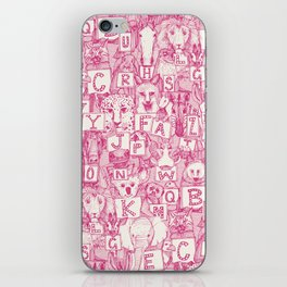 animal ABC pink ivory iPhone Skin