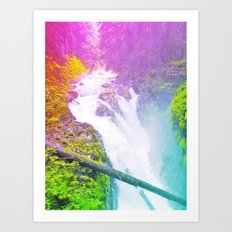 Wonderland Waterfall Art Print