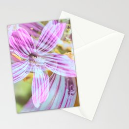 Purisima Tree Mallow Flower Abstract Stationery Cards