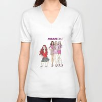 mean girls V-neck T-shirts featuring Mean Girls by CaitlinNicole