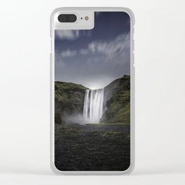 Skógafoss Waterfall Iceland Clear iPhone Case