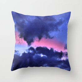 Clouds - Twilight Summer #1 #sunset #decor #art #society6 Throw Pillow