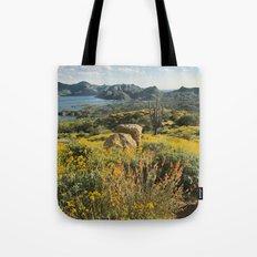Arizona Spring Mountain Bloom Tote Bag